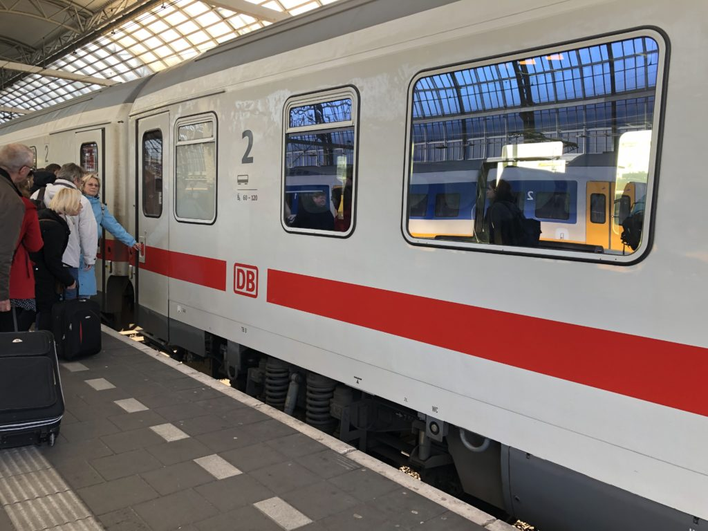 Deutsche Bahn train from Amsterdam to Berlin