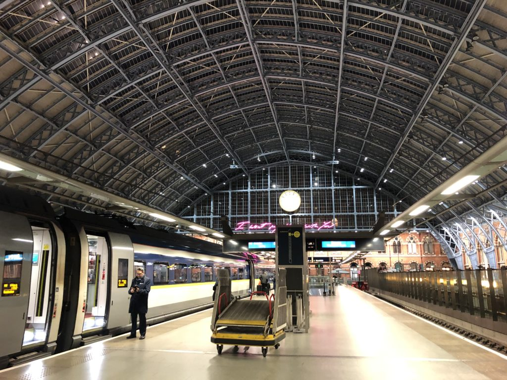 Eurostar platforms at London St Pancras